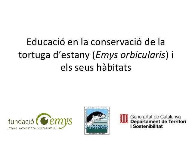 Educació en la conservació de la tortuga d'estany (Emys orbicularis) i els seus hàbitats