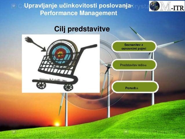 Seznanitev z osnovnimi pojmi Predstavitev rešitve Cilj predstavitve Ponudba Upravljanje učinkovitosti poslovanja- Performa...