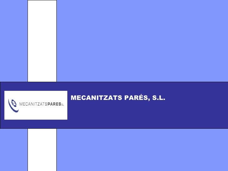 logotip MECANITZATS PARÉS, S.L.