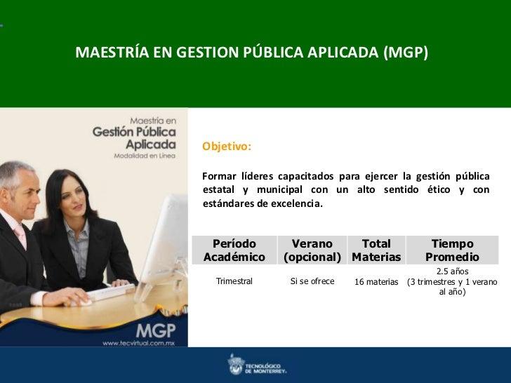 Maestrías en IngenieríaAPLICADACienciasMAESTRÍA EN GESTION PÚBLICA y Ciencias Doctorados en Ingenierías y (MGP)           ...