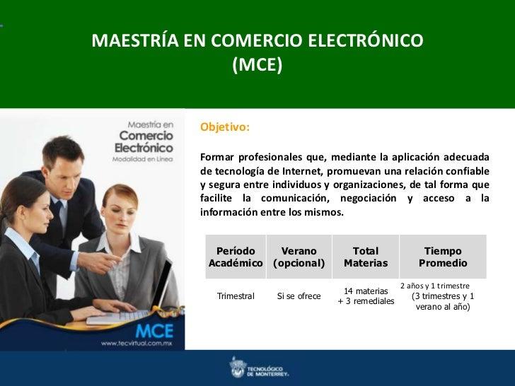 MAESTRÍA EN COMERCIO ELECTRÓNICOMaestrías en Ingeniería y Ciencias Doctorados en Ingenierías y Ciencias               (MCE...