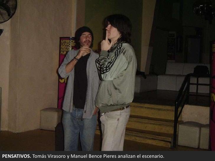 PENSATIVOS. Tomás Virasoro y Manuel BencePieres analizan el escenario. <br />