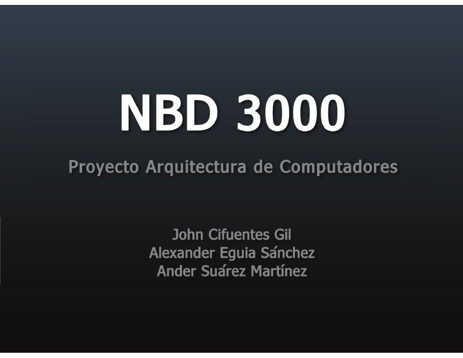 Proyecto arquitectura de computadores for Arquitectura de computadores