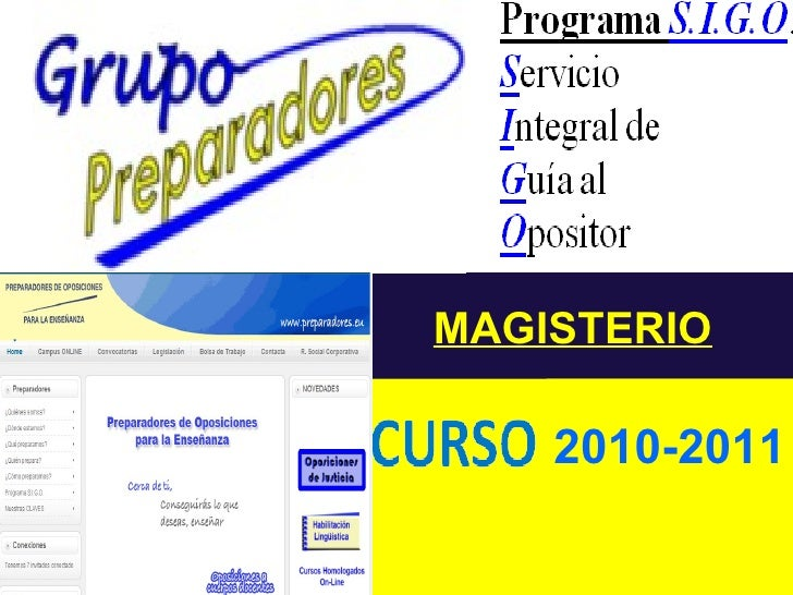 MAGISTERIO 2010-2011