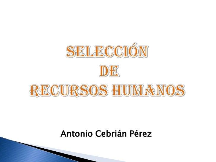 Antonio Cebrián Pérez