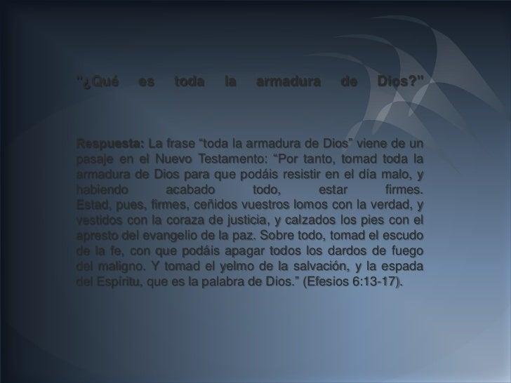 """""""¿Qué      es     toda     la    armadura       de     Dios?""""Respuesta: La frase """"toda la armadura de Dios"""" viene de unpas..."""
