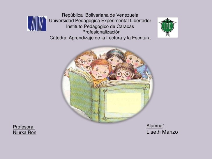 República Bolivariana de Venezuela             Universidad Pedagógica Experimental Libertador                     Institut...