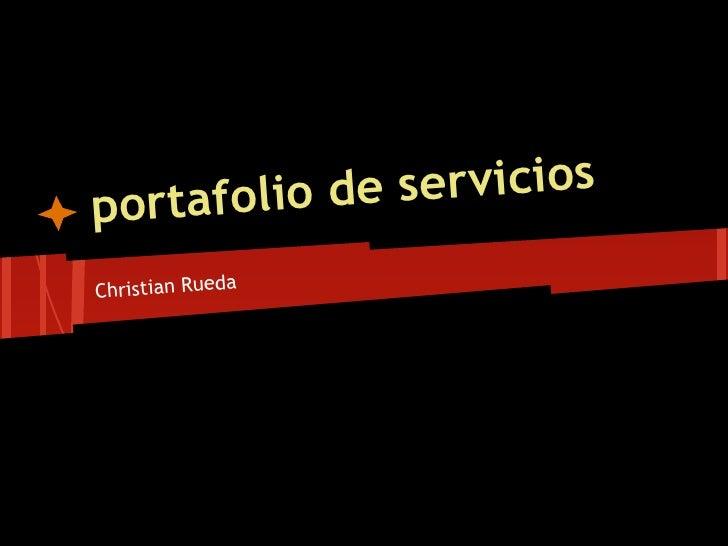 por tafolio de serviciosChristian Rueda