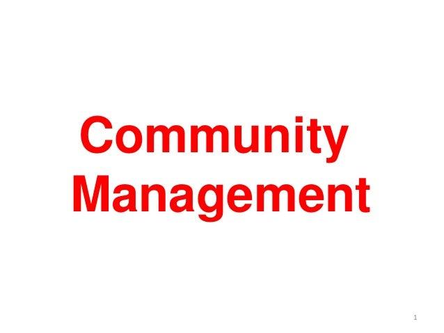 Community Management 1