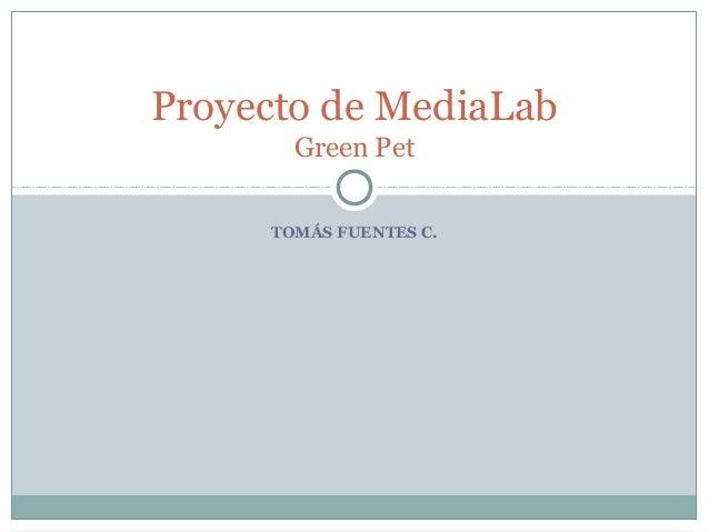Proyecto de MediaLab Green Pet TOMÁS FUENTES C.