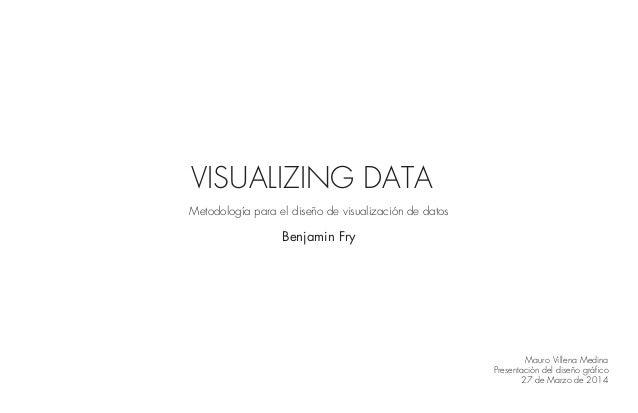 VISUALIZING DATA Metodología para el diseño de visualización de datos Benjamin Fry Mauro Villena Medina Presentación del d...