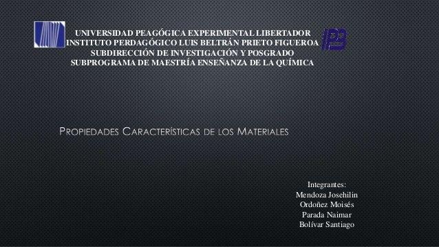 UNIVERSIDAD PEAGÓGICA EXPERIMENTAL LIBERTADOR INSTITUTO PERDAGÓGICO LUIS BELTRÁN PRIETO FIGUEROA SUBDIRECCIÓN DE INVESTIGA...
