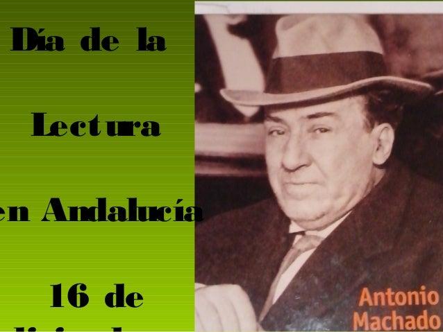 Día de la Lectura en Andalucía 16 de