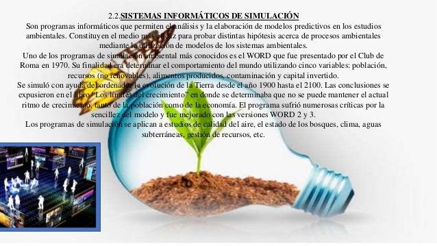 2.3. PROGRAMAS DE COOPERACIÓN INTERNACIONAL EN LA INVESTIGACIÓN AMBIENTAL Son sistemas telemáticos que se basan en la inte...