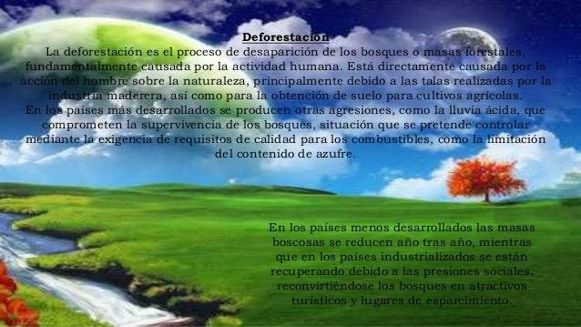 Consecuencias de la deforestación Sin embargo, debe tenerse en cuenta que las plantaciones de reforestación no sustituyen ...