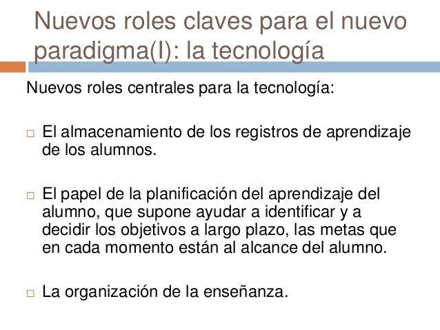 Nuevos roles claves para el nuevo paradigma(I): la tecnología Nuevos roles centrales para la tecnología:  El almacenamien...