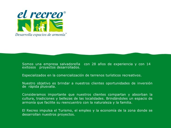 Confidencial Somos una empresa salvadoreña  con 28 años de experiencia y con 14  exitosos  proyectos desarrollados. Especi...