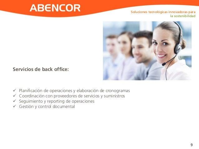 ABENCOR Servicios de back office: Soluciones tecnológicas innovadoras para la sostenibilidad 9  Planificación de operacio...