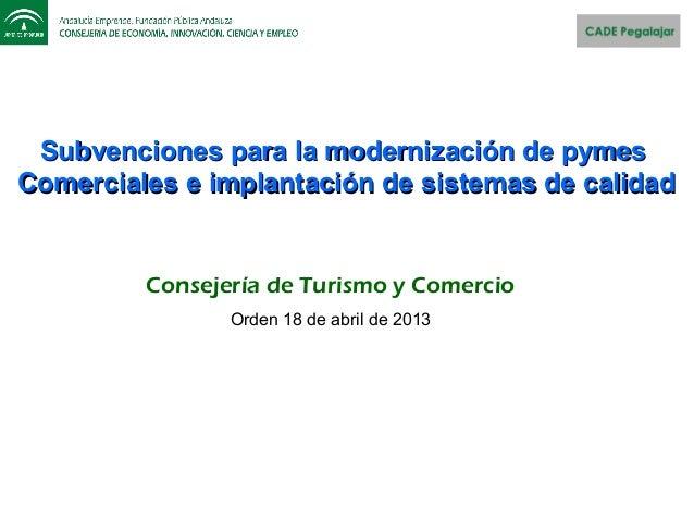 Subvenciones para la modernización de pymesSubvenciones para la modernización de pymesComerciales e implantación de sistem...