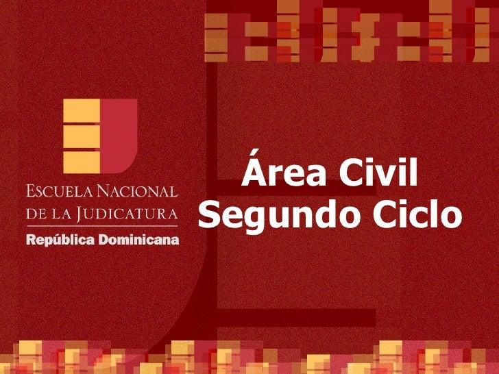 Área Civil Segundo  Ciclo