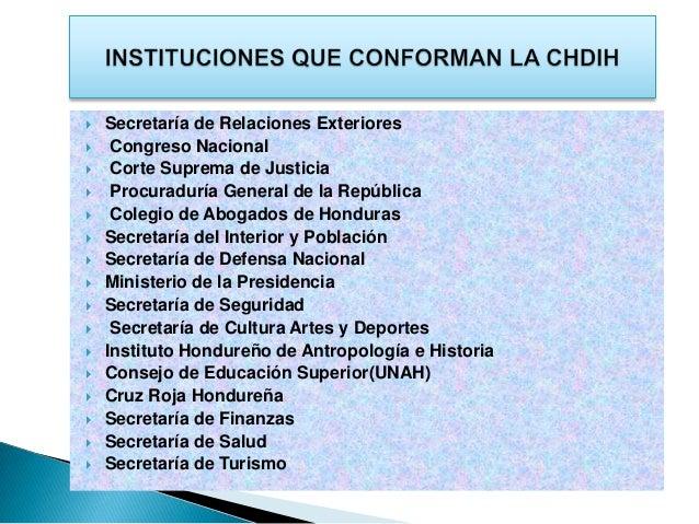 Presentaci N Comisi N Hondure A De Derecho Internacional Humanitari