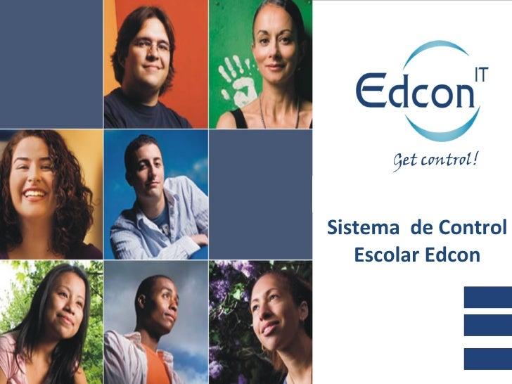 Sistema  de Control Escolar Edcon