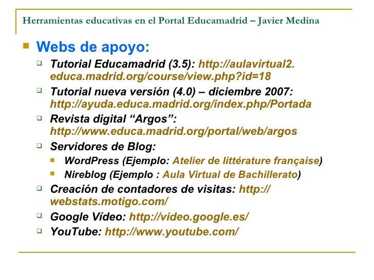 Presentación de Portal Educamadrid