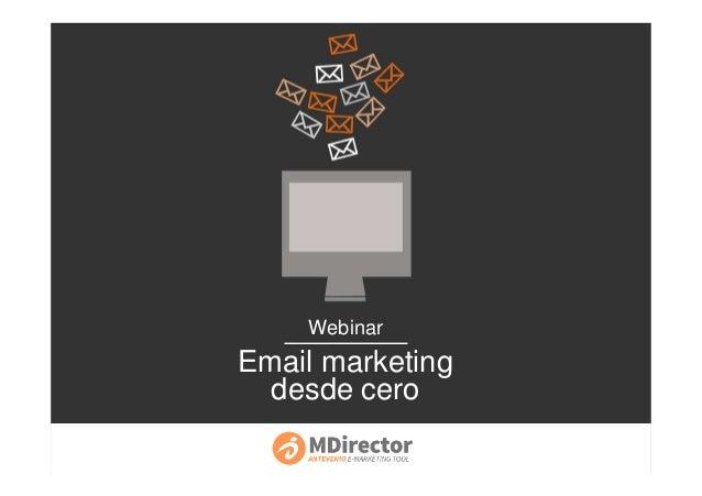 Webinar Email marketing desde cero