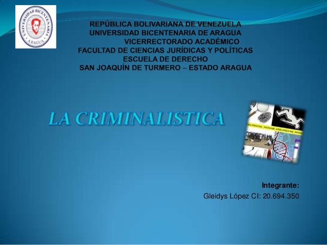 Integrante: Gleidys López CI: 20.694.350