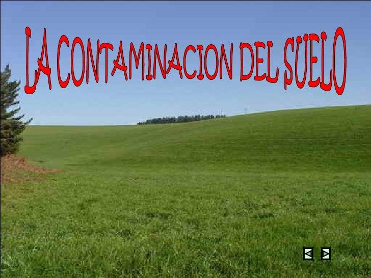 LA CONTAMINACION DEL SUELO