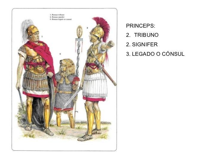 <ul><li>PRINCEPS: </li></ul><ul><li>TRIBUNO </li></ul><ul><li>2. SIGNIFER </li></ul><ul><li>3. LEGADO O CÓNSUL </li></ul>