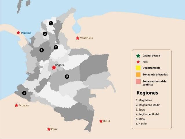 Mapa de muestra CGR 2013: distribución del conflicto armado en Colombia