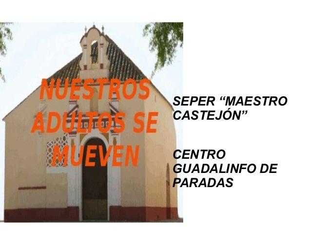 """SEPER """"MAESTRO CASTEJÓN"""" CENTRO GUADALINFO DE PARADAS"""