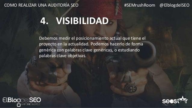 #SEMrushRoom @ElblogdelSEOCOMO REALIZAR UNA AUDITORÍA SEO HERRAMIENTAS 1. VISIBILIDAD Position Tracking