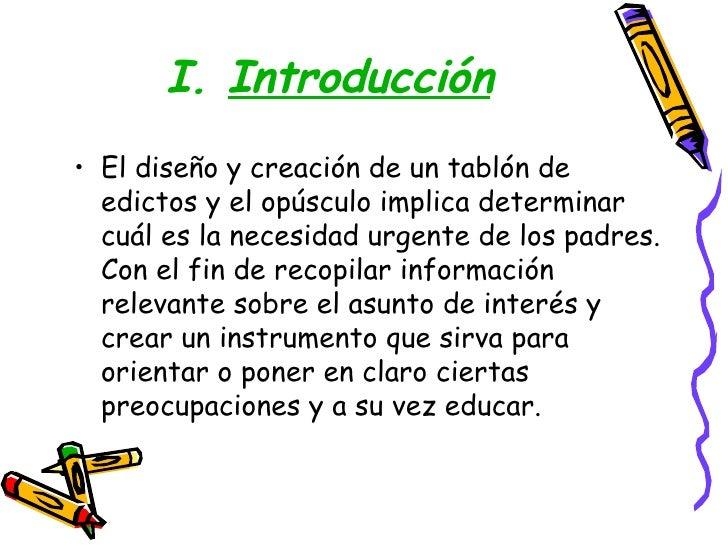PresentacióN OpúSculo Y TablóN De Edictos Slide 2