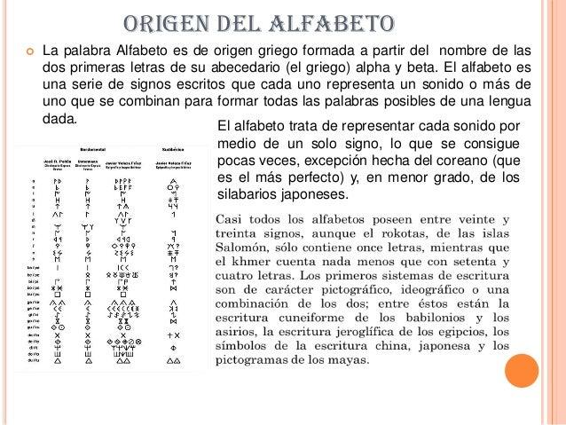 Origen del alfabeto for De que lengua proviene la palabra jardin