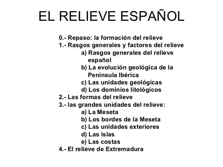 El relieve español Slide 2