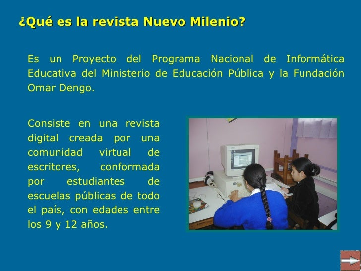Revista digital nuevo milenio for Milenio programas