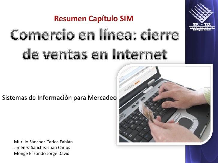Murillo Sánchez Carlos Fabián Jiménez Sánchez Juan Carlos Monge Elizondo Jorge David Sistemas de Información para Mercadeo