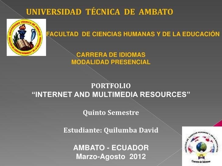 UNIVERSIDAD TÉCNICA DE AMBATO    FACULTAD DE CIENCIAS HUMANAS Y DE LA EDUCACIÓN           CARRERA DE IDIOMAS          MODA...