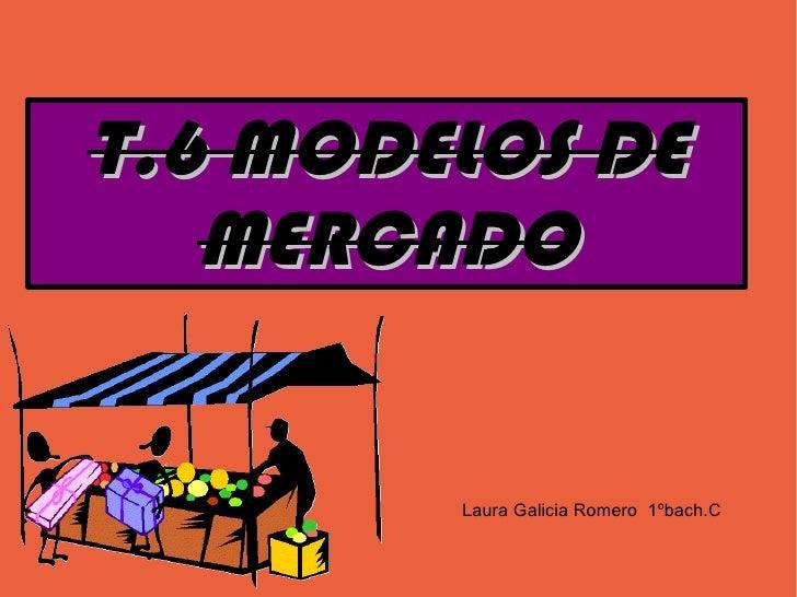 T.6 MODELOS DE    MERCADO           Laura Galicia Romero 1ºbach.C