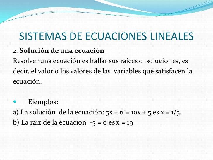 Presentación- Sistemas de ecuaciones lineales