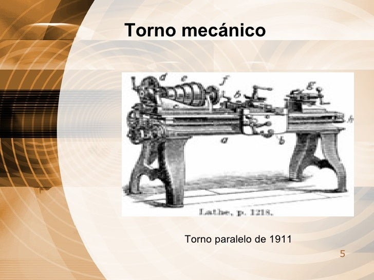 Torno paralelo de 1911 Torno mecánico