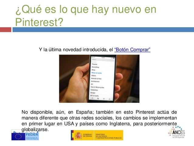 """¿Qué es lo que hay nuevo en Pinterest? Y la última novedad introducida, el """"Botón Comprar"""" No disponible, aún, en España; ..."""