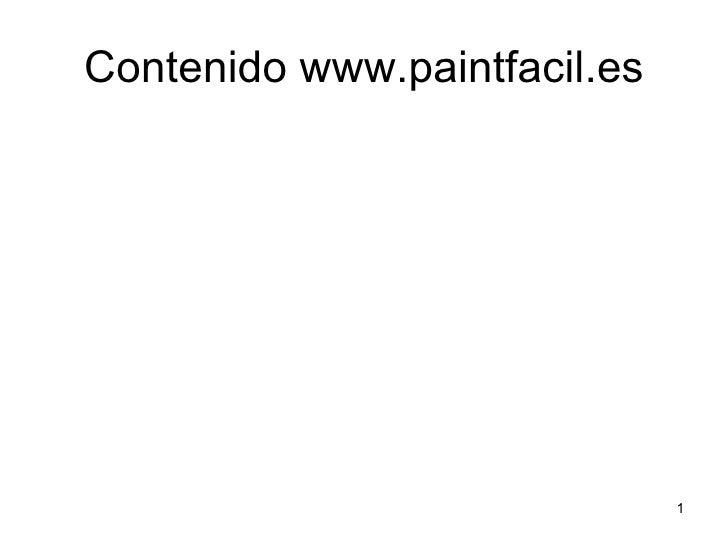 Contenido www.paintfacil.es