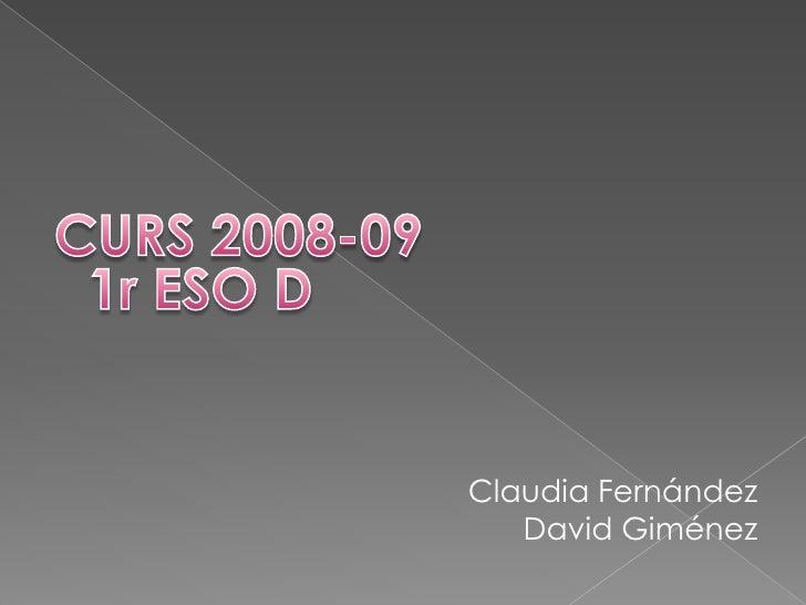 Claudia Fernández    David Giménez