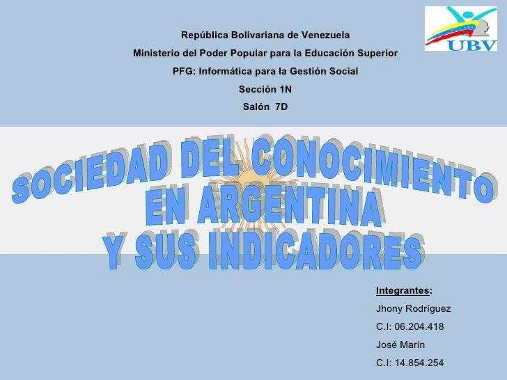 República Bolivariana de Venezuela Ministerio del Poder Popular para la Educación Superior         PFG: Informática para l...