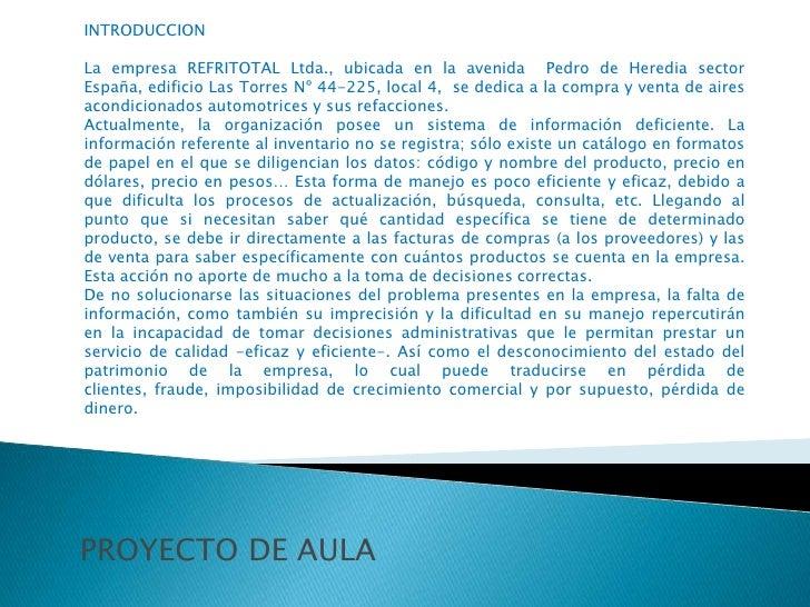 PROYECTO REFRITOTALLTDA Slide 3