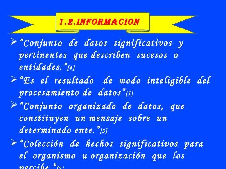 datos e  informacion Slide 3