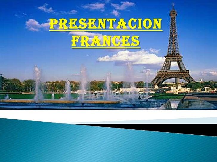 PRESENTACION FRANCES<br />